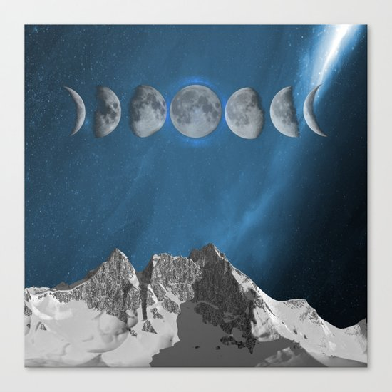 space in moon Canvas Print