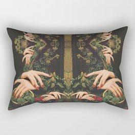 Touch Plants Rectangular Pillow