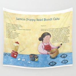 Lemon Poppy Seed Bundt Cake Wall Tapestry