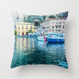 Marina in Sorrento, Italy Throw Pillow