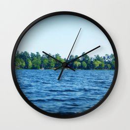 Lake Water View Color Photo Wall Clock
