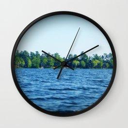 Lake Water View Color Photo Wall Clock