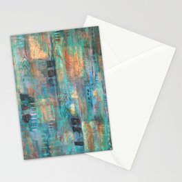 """PATINA"" Original Painting by Cyd Rust Stationery Cards"