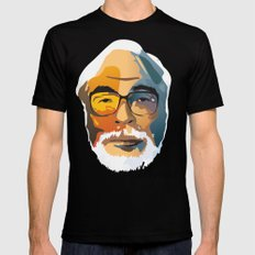 Miyazaki MEDIUM Black Mens Fitted Tee