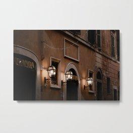 Roman street in the evening Metal Print