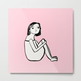 Resting in pink Metal Print