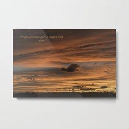 Inspirational Sunset-160906-71 Metal Print