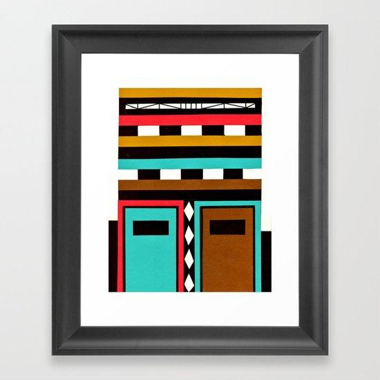 Tribe Mask Framed Art Print
