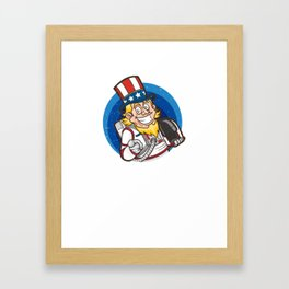 US Space Force I Want You Uncle Sam Framed Art Print
