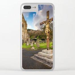 Pantasaph Church Crucifixion Clear iPhone Case