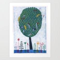 Adan y Eva Art Print