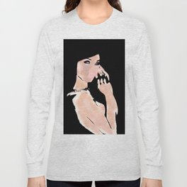 Woman Digital Painting Long Sleeve T-shirt