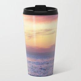Pink Sunset over Carmel Beach Travel Mug