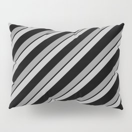 Grey Bands on Black Pillow Sham