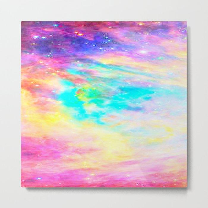Abstract Galaxy : Bright & Colorful Metal Print