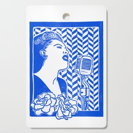 Lady Day (Billie Holiday block print) Cutting Board
