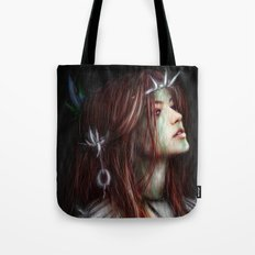 Silver Thorns Tote Bag