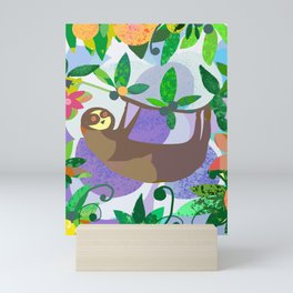 Sloth World Mini Art Print