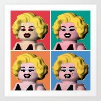 marilyn Art Prints featuring Marilyn by powerpig