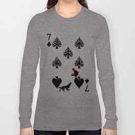 Curator Deck: The 7 of Spades Long Sleeve T-shirt