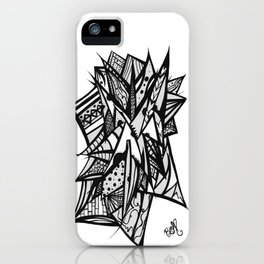 Abstract Black and White iPhone Case