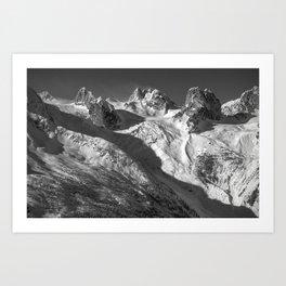 Bugaboos in Winter Art Print