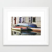boats Framed Art Prints featuring Boats by Vivian Fortunato
