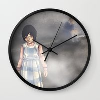silent hill Wall Clocks featuring Duality - Silent Hill by JeyJey Artworks