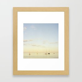 Crescent Beach Boats Framed Art Print