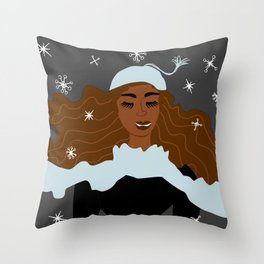 Magical Winter Night Throw Pillow