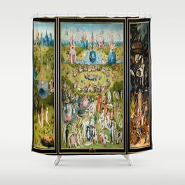 Hieronymus Bosch's The Garden of Earthly Delights Shower Curtain