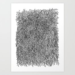 spaghetti texture Art Print