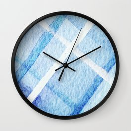 Watercolor Blues Wall Clock