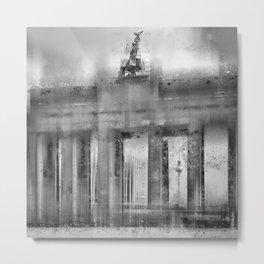 CityArt BERLIN Brandenburg Gate   monochrome Metal Print