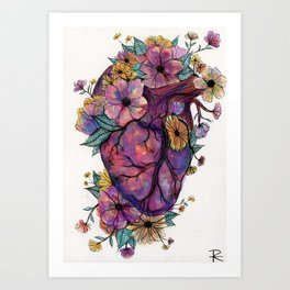 BULLETPROOF HEART Art Print