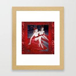 Femme Fatale - Anita Red Devil Glitter Framed Art Print
