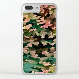 Foliage Abstract In Autumnal Tones Clear iPhone Case