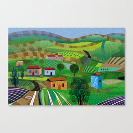 Santa Barbara Wine and Cheese Canvas Print