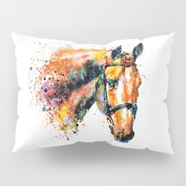 Colorful Horse Head Pillow Sham