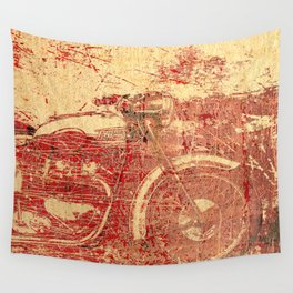 Triumph - Vintage Motorcycle Wall Tapestry