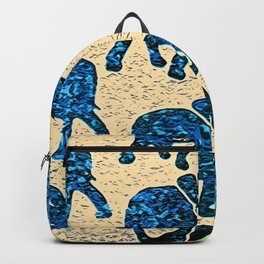 Elephant March Blue Backpack