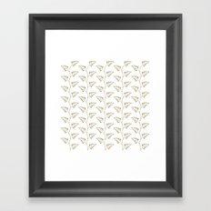 Tan Ferns Framed Art Print
