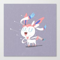 sylveon Canvas Prints featuring Sylveon by Rod Perich