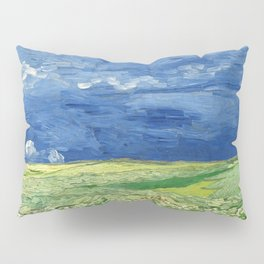 Wheatfield under thunderclouds by Vincent van Gogh Pillow Sham