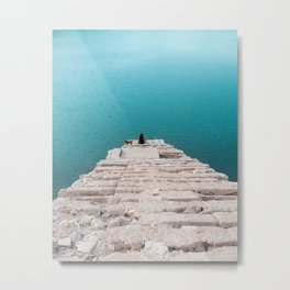 Stairway to infinite turquoise water Metal Print