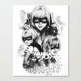 Hit-Girl Canvas Print