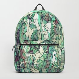 Abstract green Backpack
