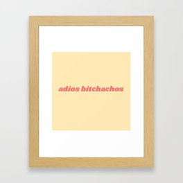 adios Framed Art Print