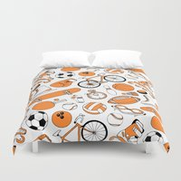 sports Duvet Covers featuring SPORTS by Shoreside