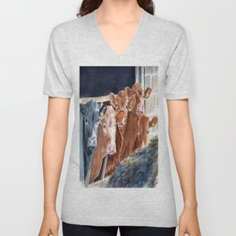 Calves at Brunch Unisex V-Neck